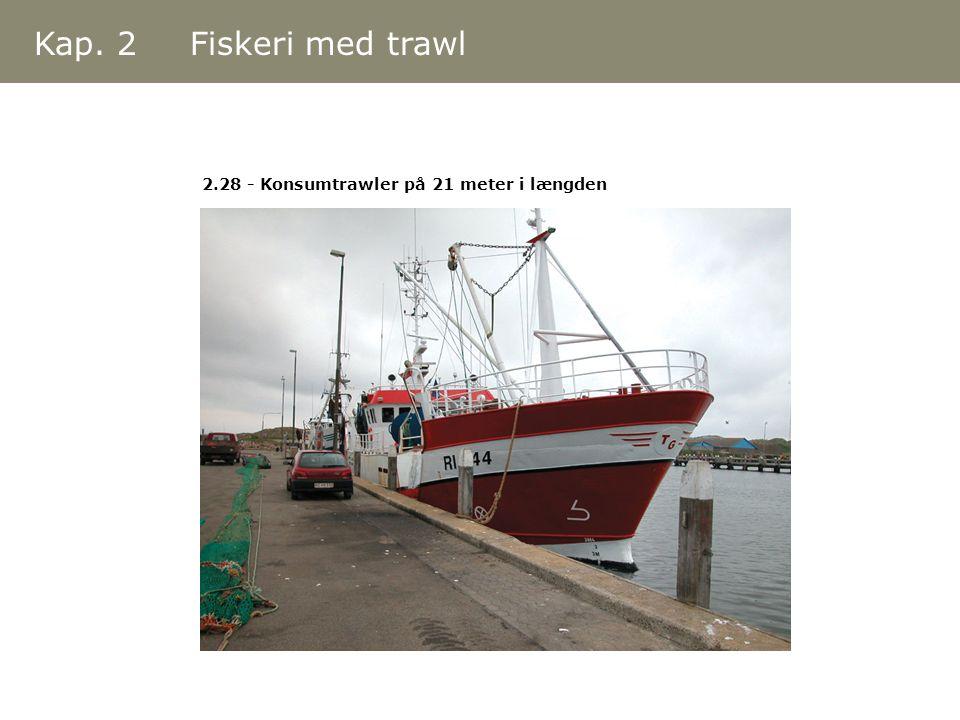 Kap. 2 Fiskeri med trawl 2.28 - Konsumtrawler på 21 meter i længden