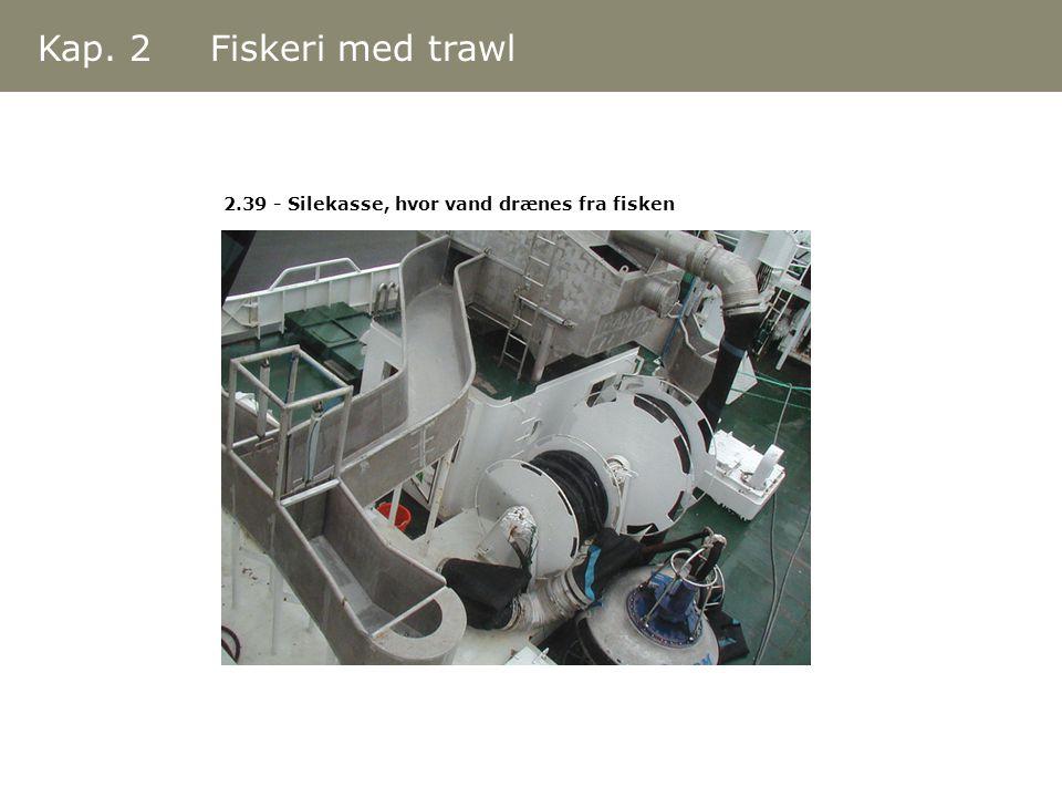Kap. 2 Fiskeri med trawl 2.39 - Silekasse, hvor vand drænes fra fisken