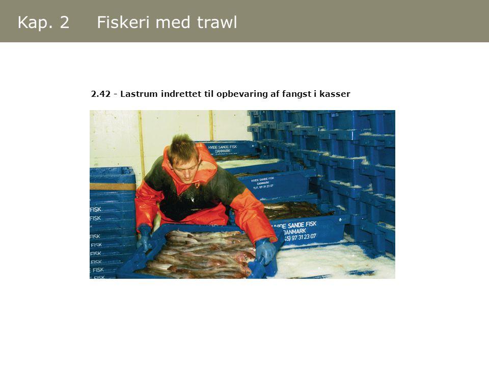 Kap. 2 Fiskeri med trawl 2.42 - Lastrum indrettet til opbevaring af fangst i kasser