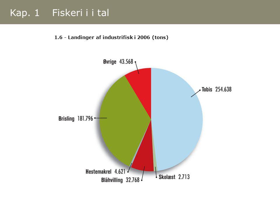 Kap. 1 Fiskeri i i tal 1.6 - Landinger af industrifisk i 2006 (tons)