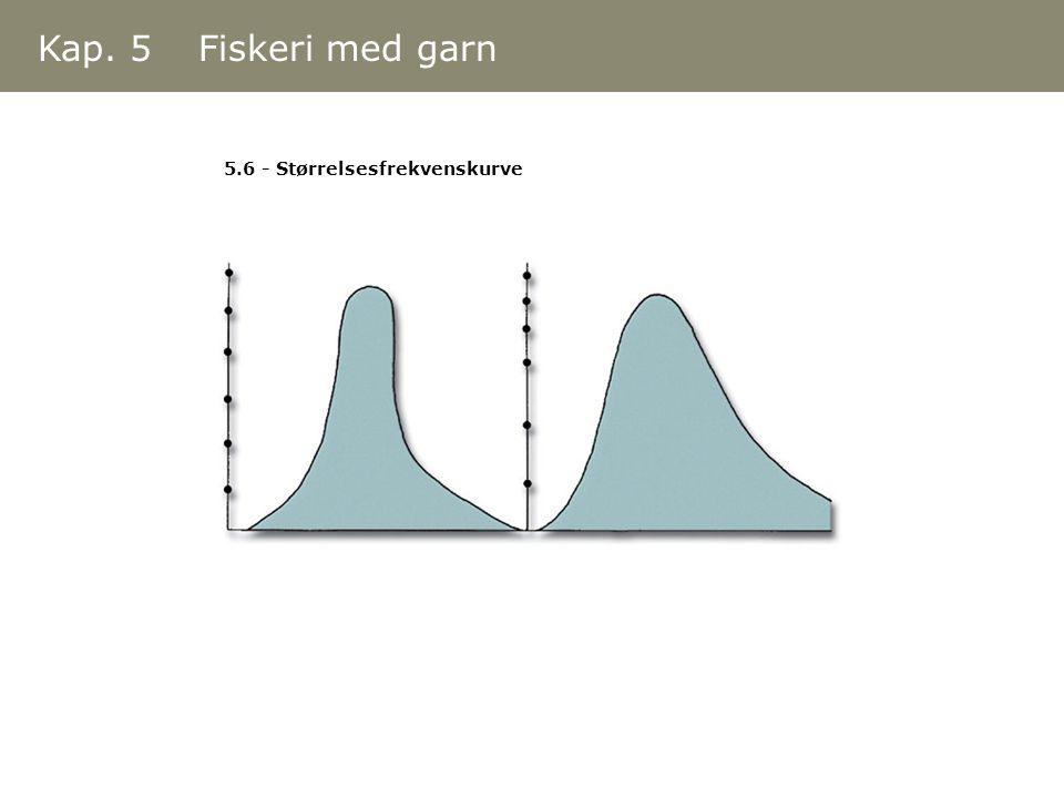 Kap. 5 Fiskeri med garn 5.6 - Størrelsesfrekvenskurve