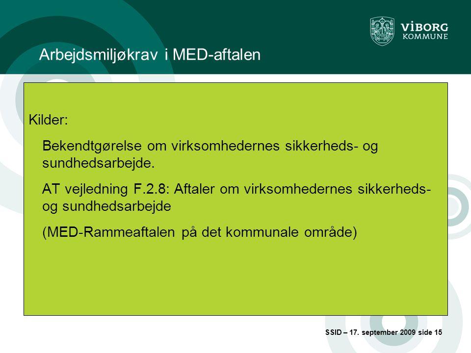 Arbejdsmiljøkrav i MED-aftalen