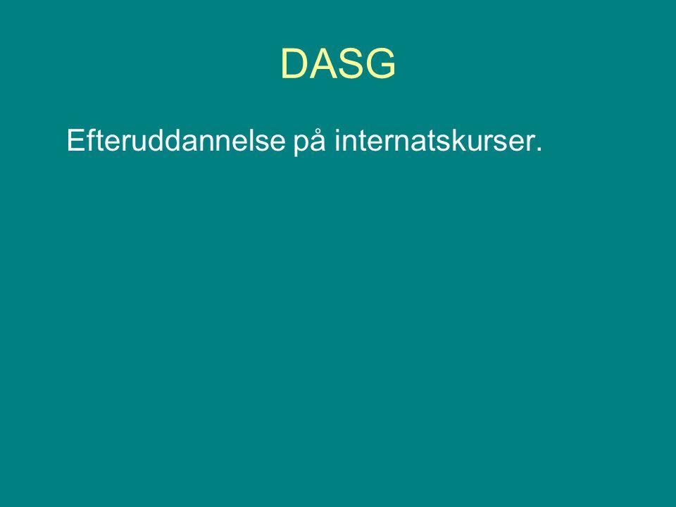 DASG Efteruddannelse på internatskurser.