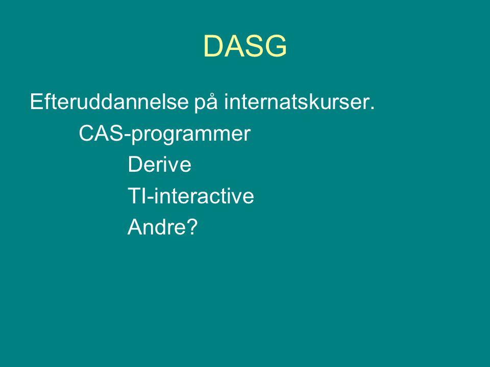 DASG Efteruddannelse på internatskurser. CAS-programmer Derive