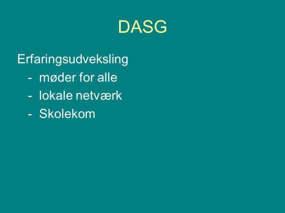 DASG Erfaringsudveksling - møder for alle - lokale netværk - Skolekom