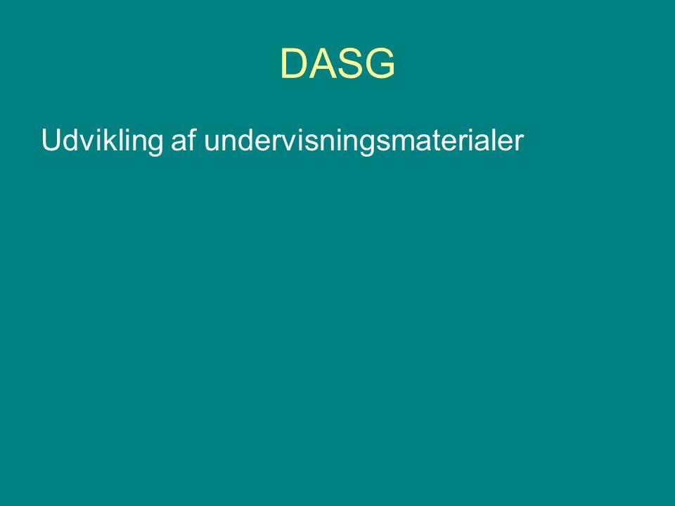 DASG Udvikling af undervisningsmaterialer