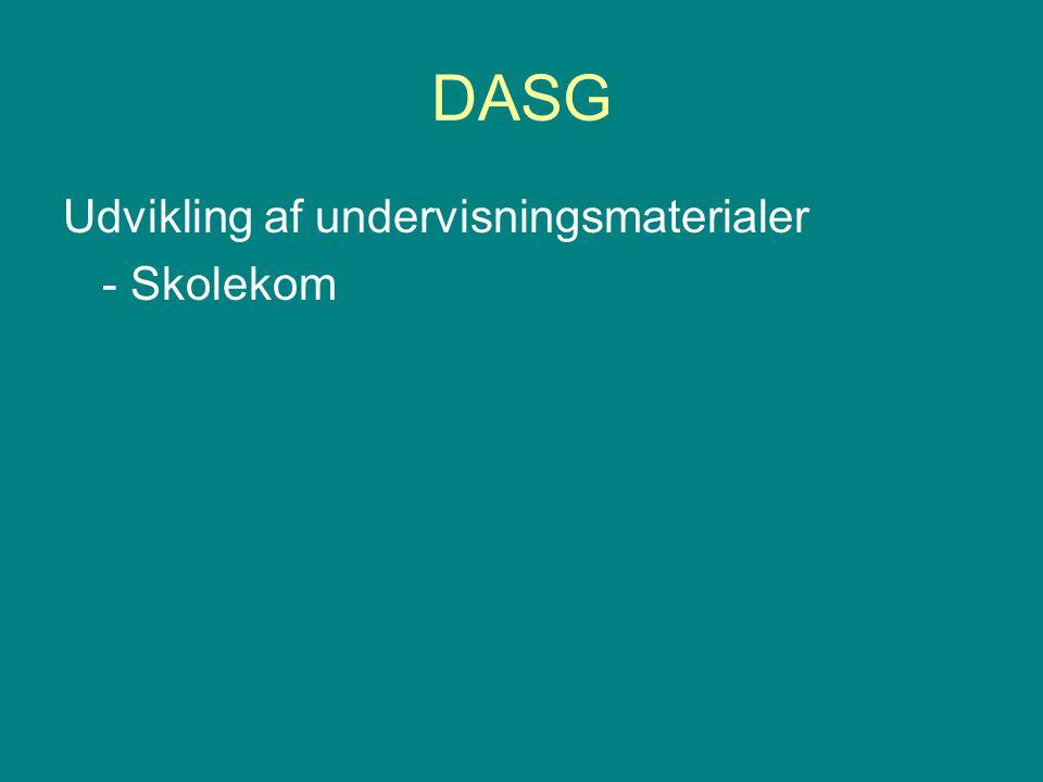 DASG Udvikling af undervisningsmaterialer - Skolekom