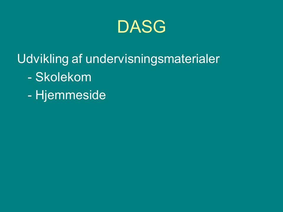 DASG Udvikling af undervisningsmaterialer - Skolekom - Hjemmeside