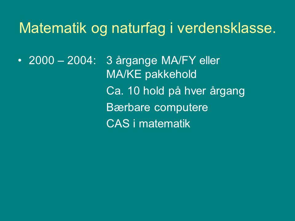 Matematik og naturfag i verdensklasse.