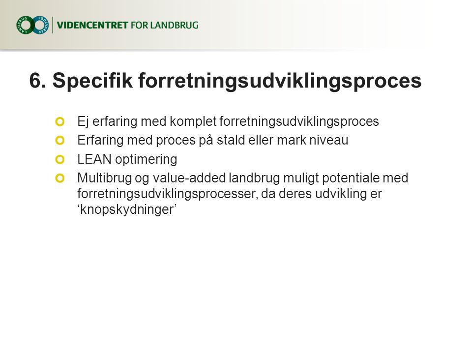 6. Specifik forretningsudviklingsproces