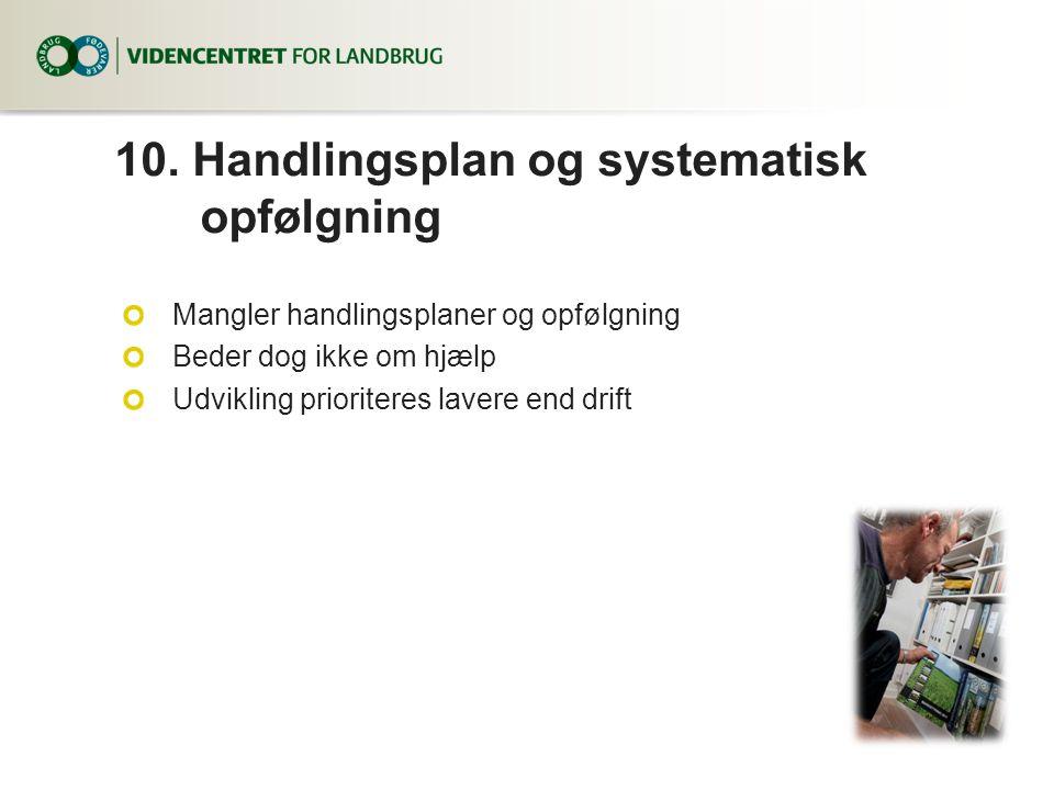 10. Handlingsplan og systematisk opfølgning