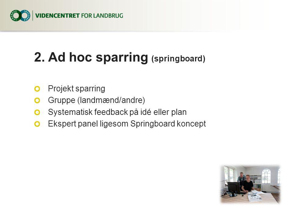 2. Ad hoc sparring (springboard)