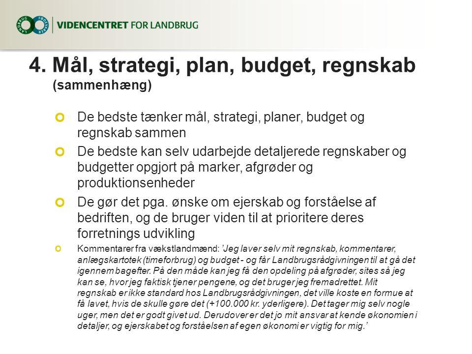 4. Mål, strategi, plan, budget, regnskab (sammenhæng)