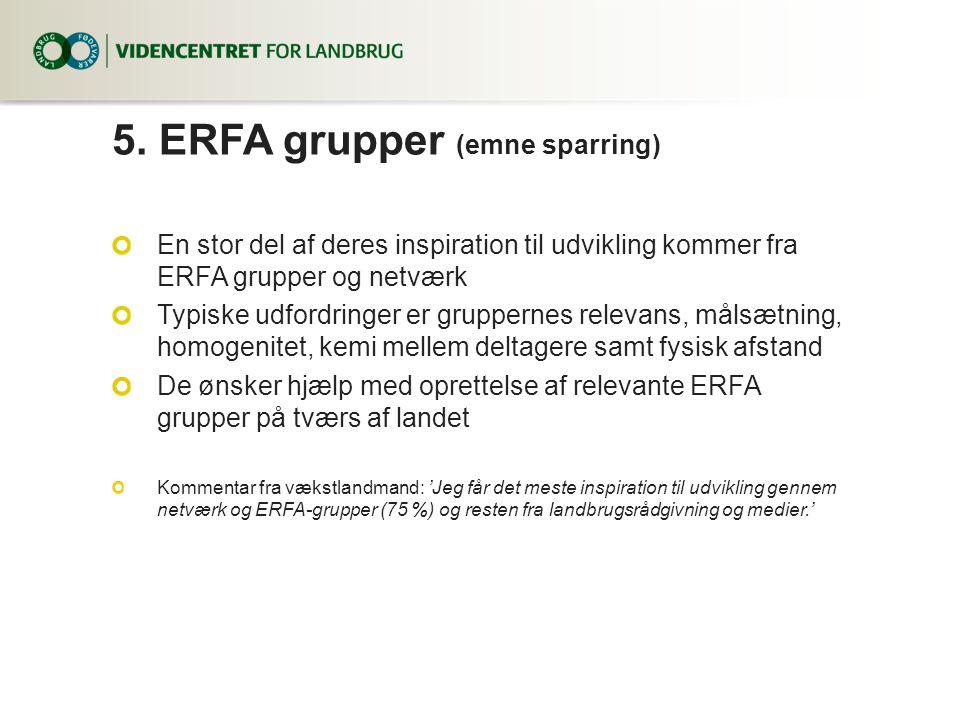 5. ERFA grupper (emne sparring)