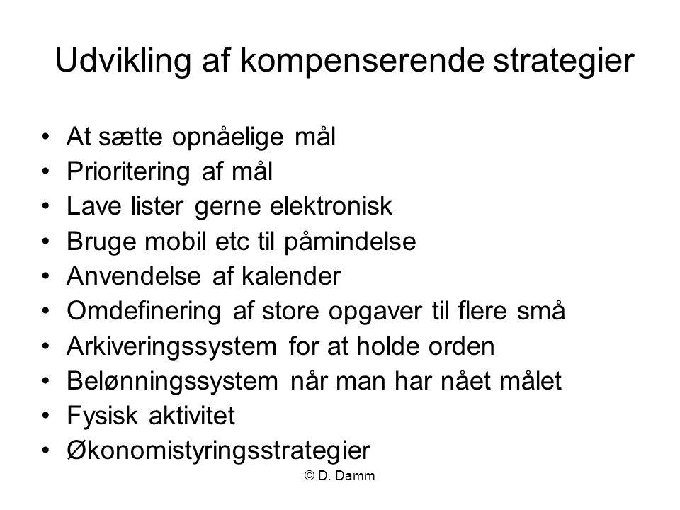 Udvikling af kompenserende strategier