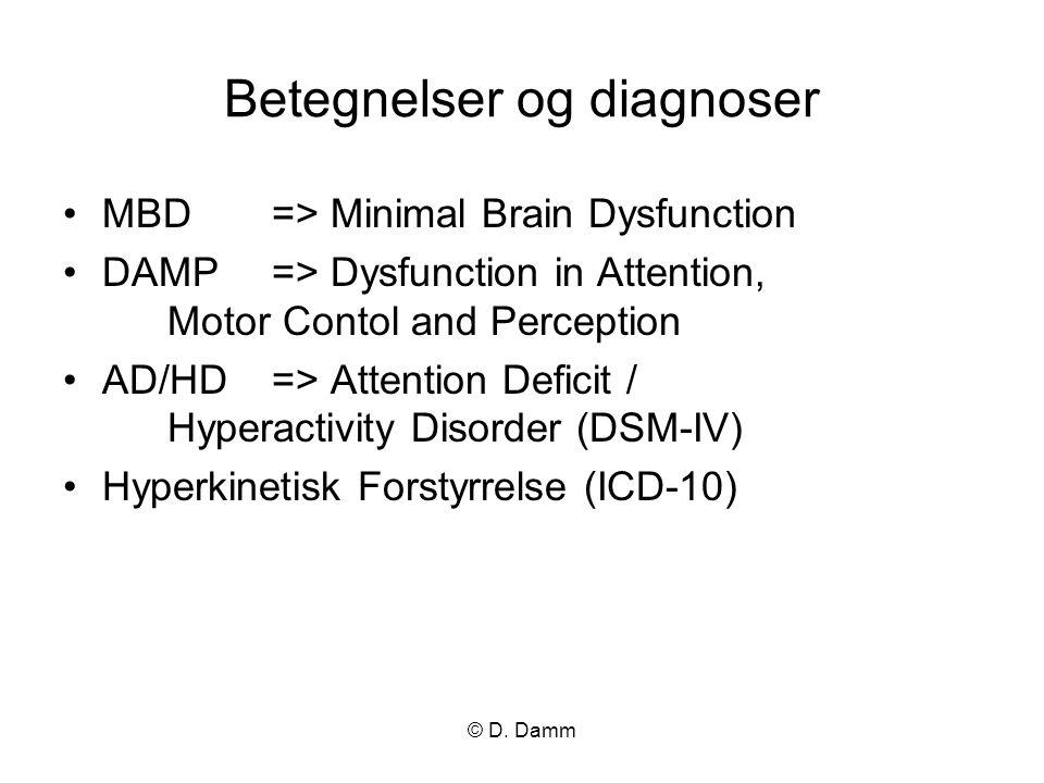 Betegnelser og diagnoser