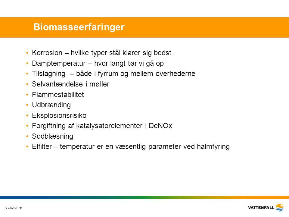 Biomasseerfaringer Korrosion – hvilke typer stål klarer sig bedst