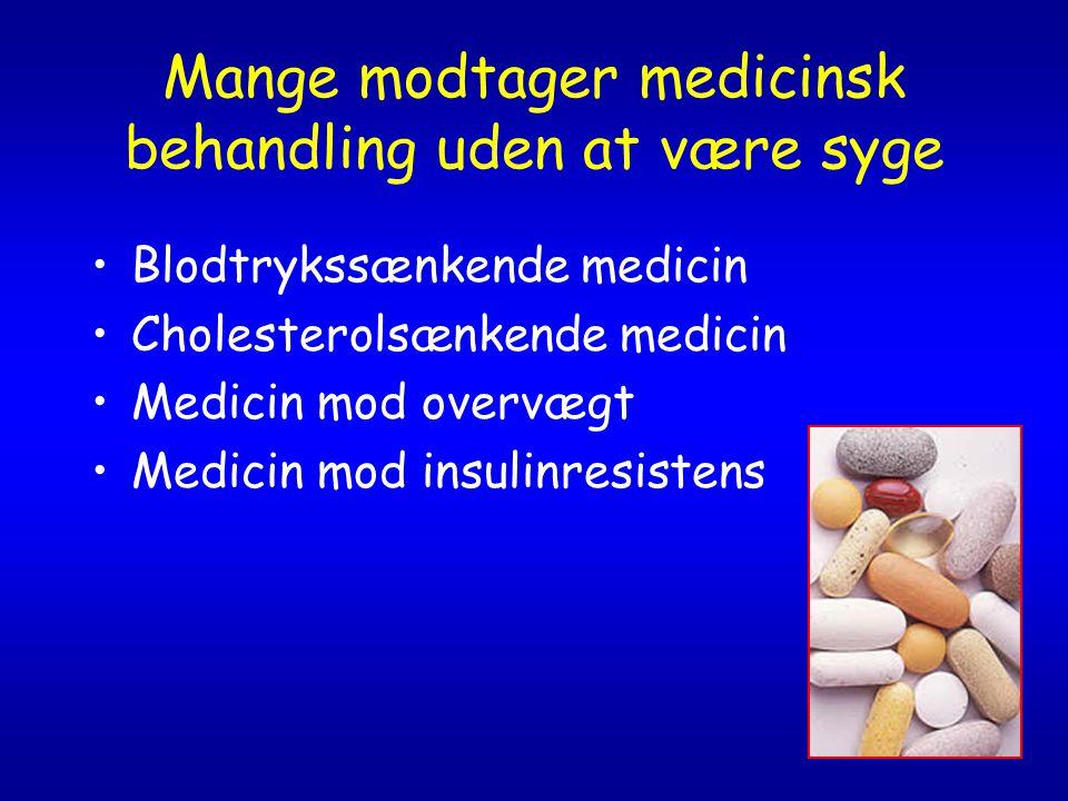 Mange modtager medicinsk behandling uden at være syge