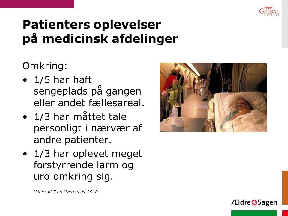 Patienters oplevelser på medicinsk afdelinger