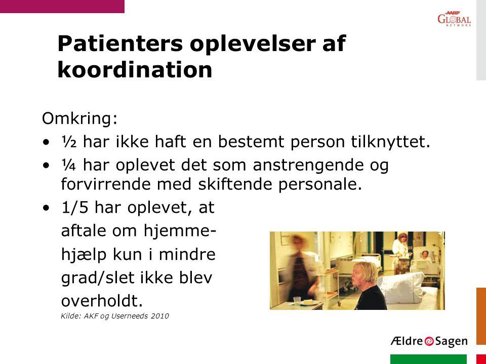 Patienters oplevelser af koordination