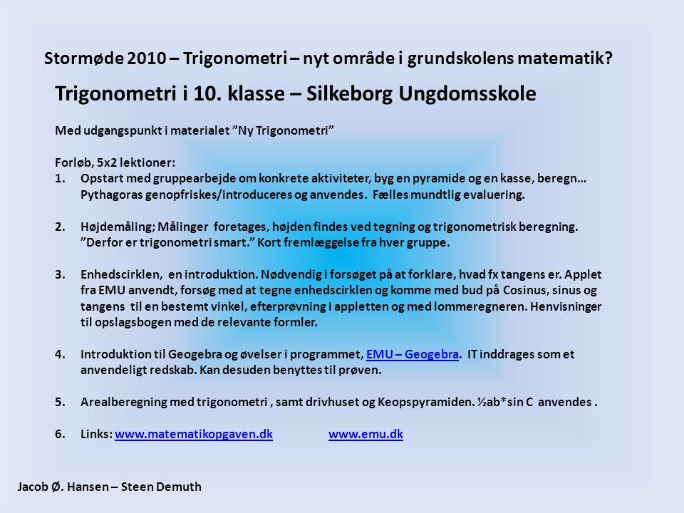 Trigonometri i 10. klasse – Silkeborg Ungdomsskole