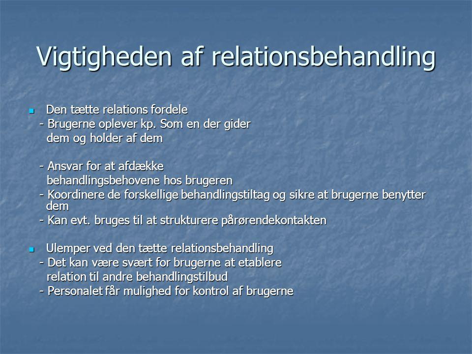 Vigtigheden af relationsbehandling
