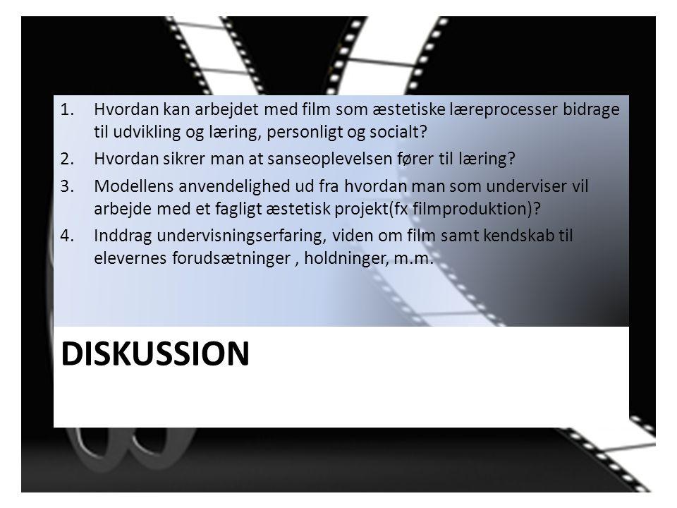 Hvordan kan arbejdet med film som æstetiske læreprocesser bidrage til udvikling og læring, personligt og socialt