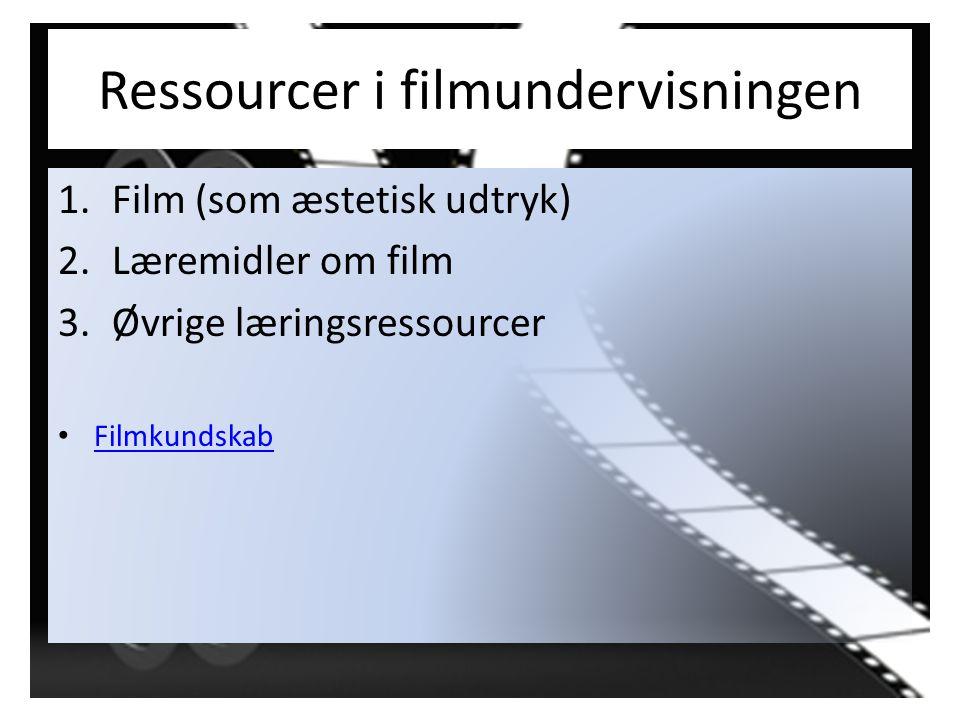 Ressourcer i filmundervisningen