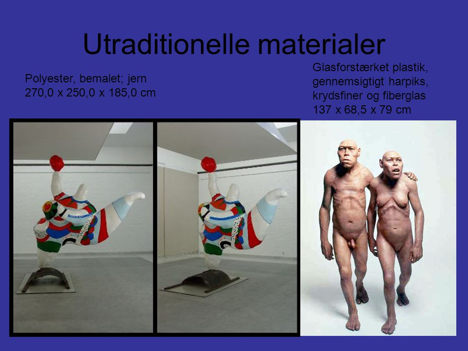 Utraditionelle materialer