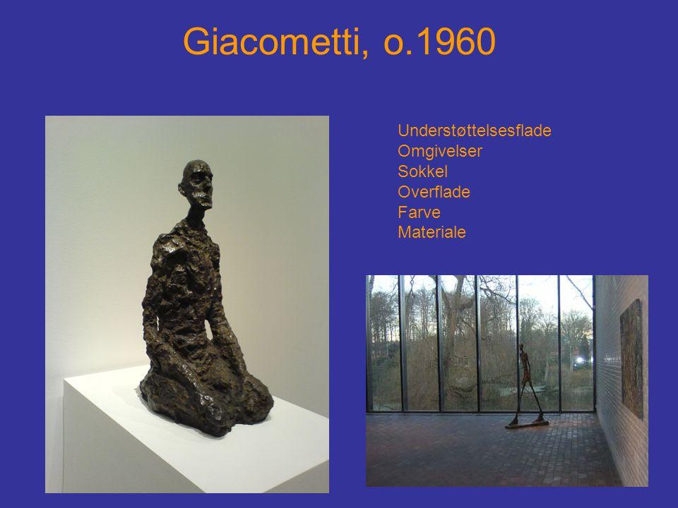 Giacometti, o.1960 Understøttelsesflade Omgivelser Sokkel Overflade