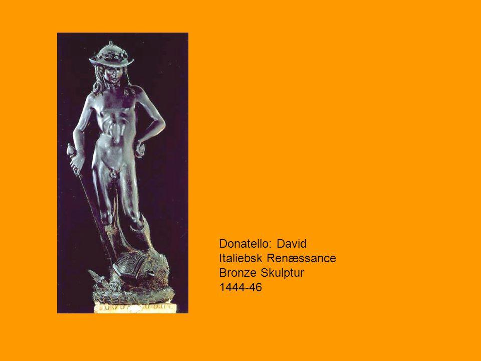 Donatello: David Italiebsk Renæssance Bronze Skulptur 1444-46