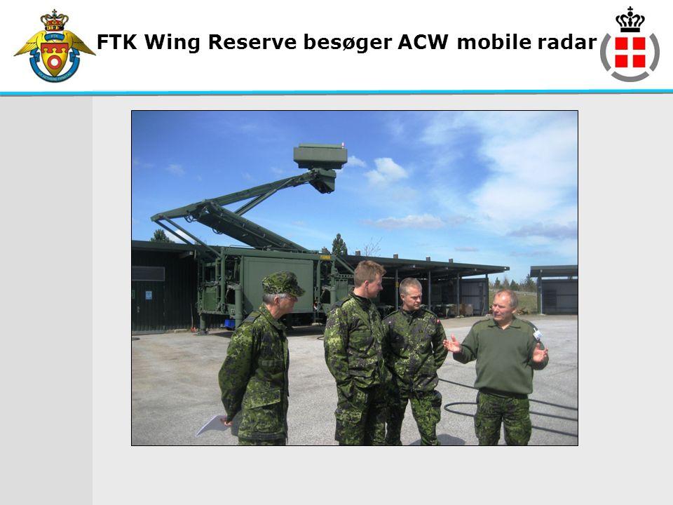FTK Wing Reserve besøger ACW mobile radar