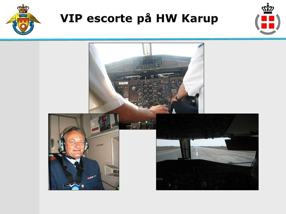 VIP escorte på HW Karup