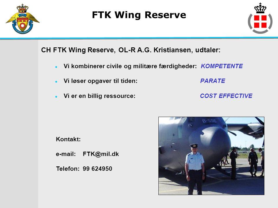 FTK Wing Reserve CH FTK Wing Reserve, OL-R A.G. Kristiansen, udtaler: