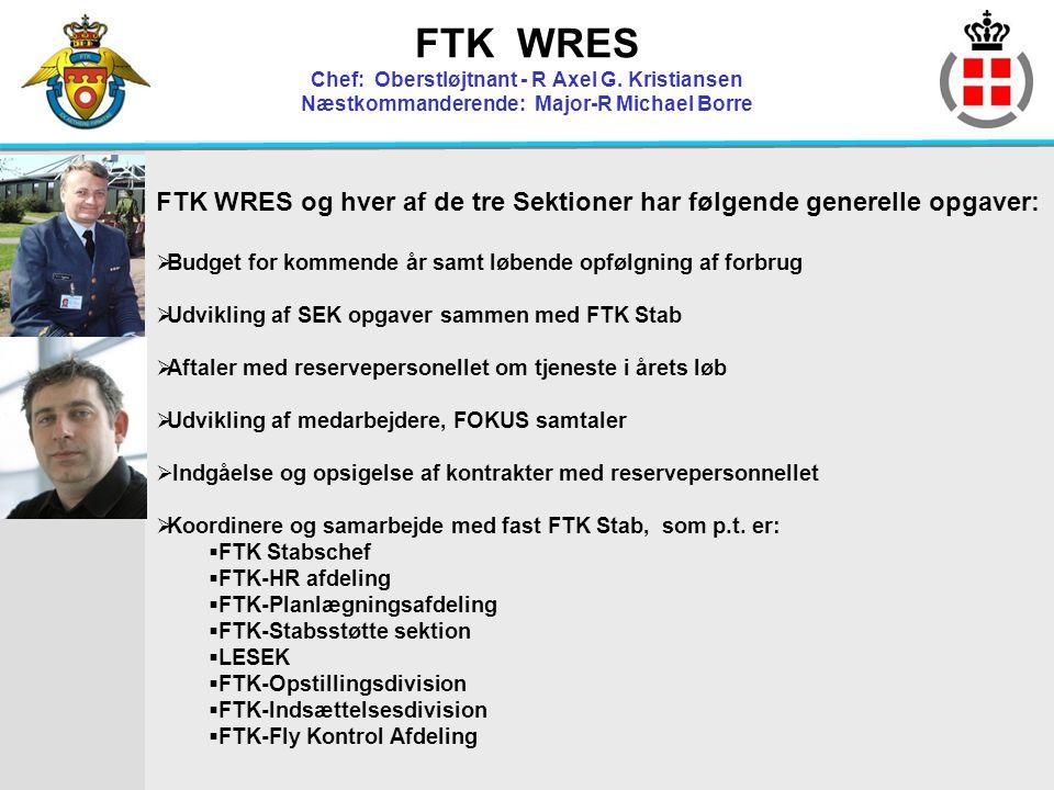 FTK WRES Chef: Oberstløjtnant - R Axel G
