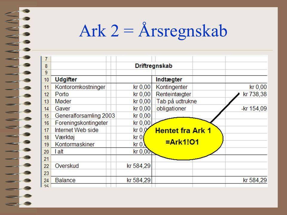 Ark 2 = Årsregnskab