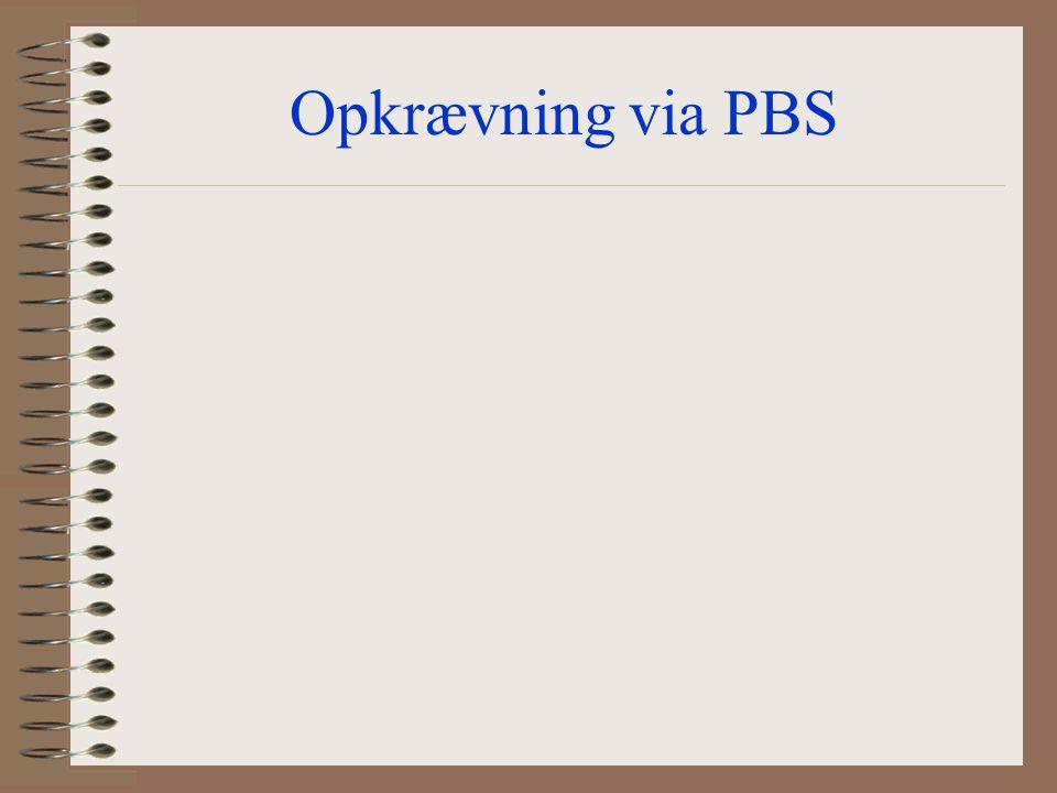 Opkrævning via PBS