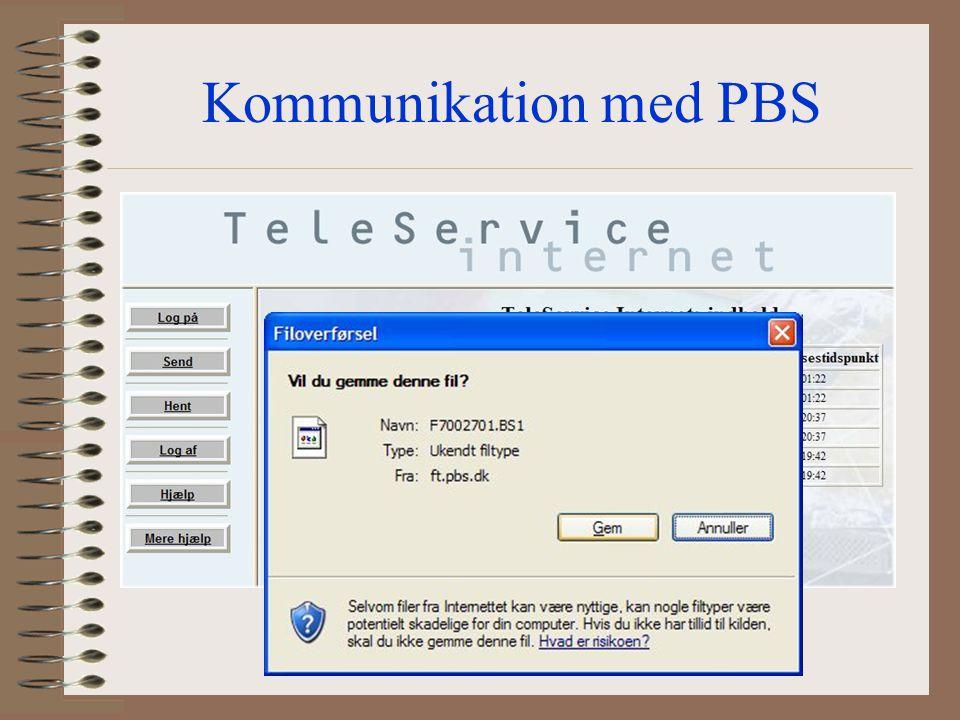 Kommunikation med PBS