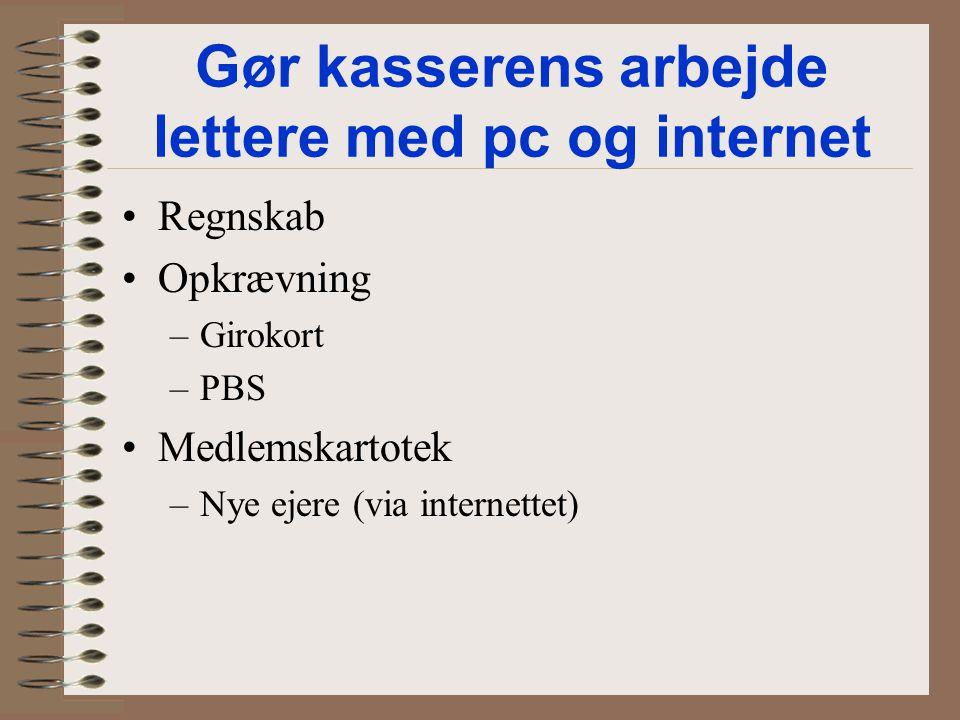 Gør kasserens arbejde lettere med pc og internet
