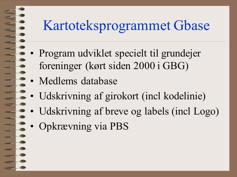 Kartoteksprogrammet Gbase