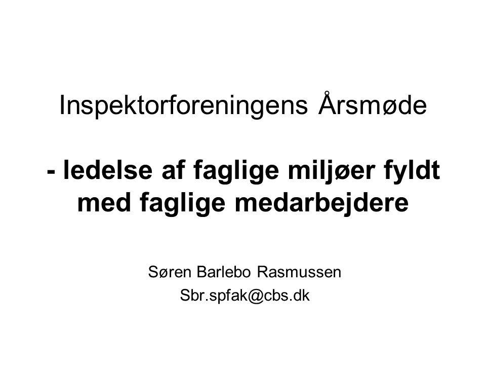 Søren Barlebo Rasmussen Sbr.spfak@cbs.dk