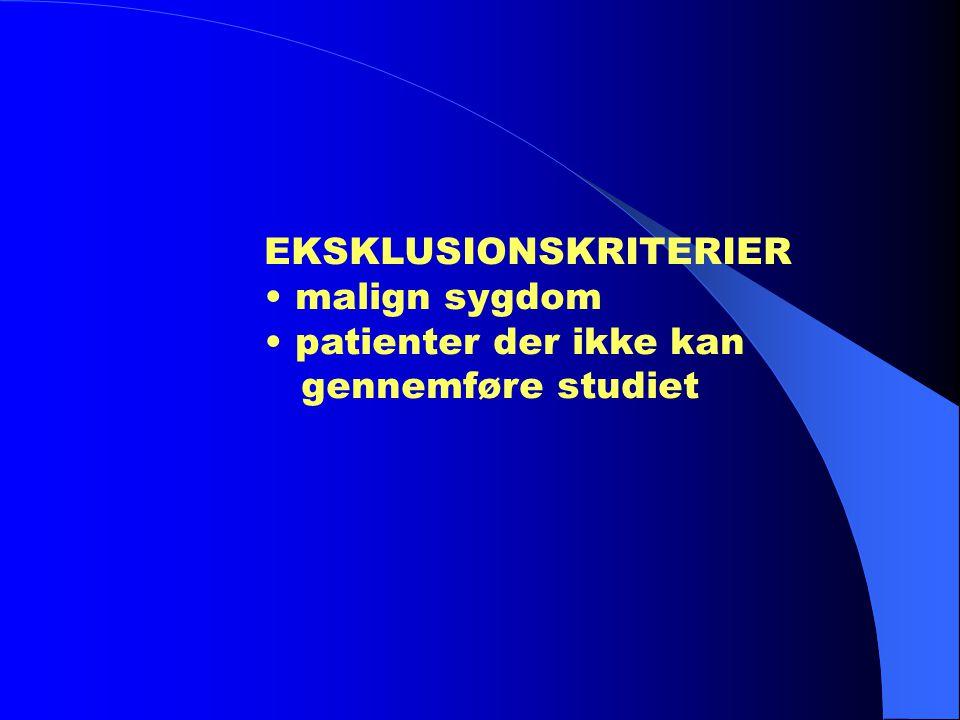 EKSKLUSIONSKRITERIER
