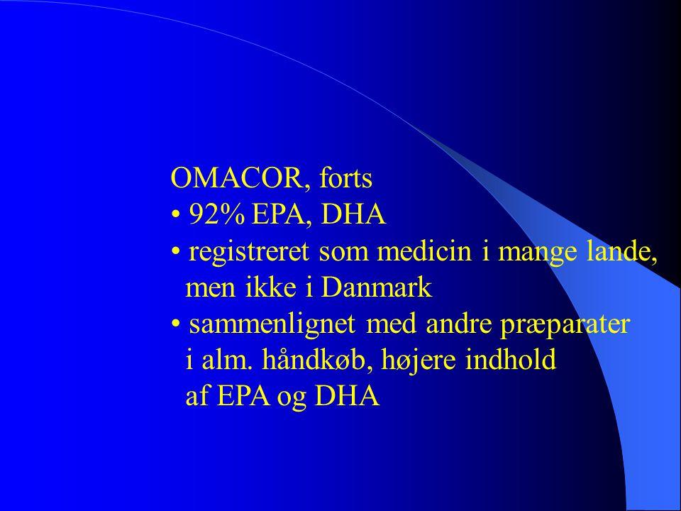 • registreret som medicin i mange lande, men ikke i Danmark