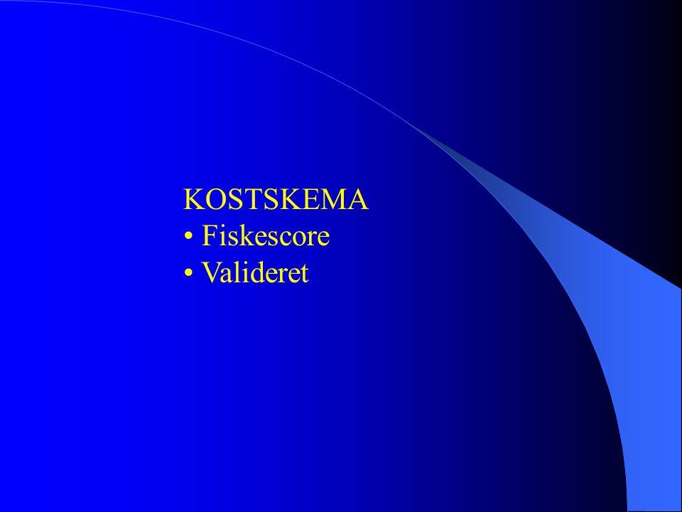 KOSTSKEMA • Fiskescore • Valideret