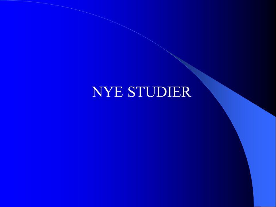 NYE STUDIER