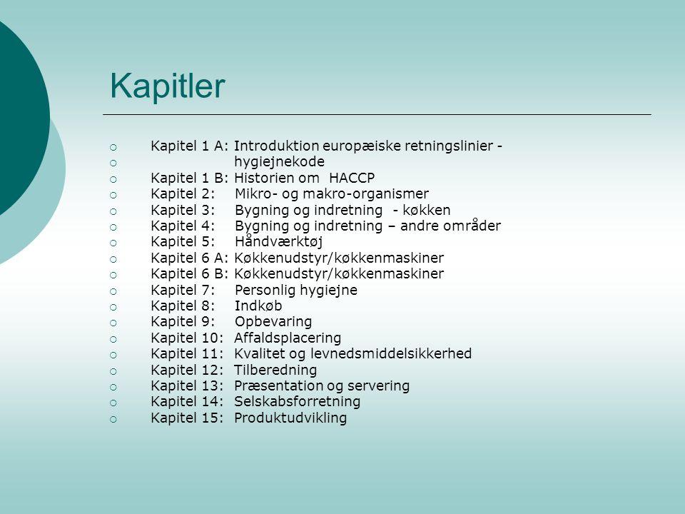 Kapitler Kapitel 1 A: Introduktion europæiske retningslinier -