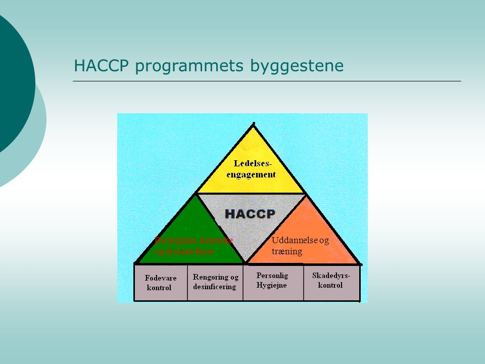 HACCP programmets byggestene