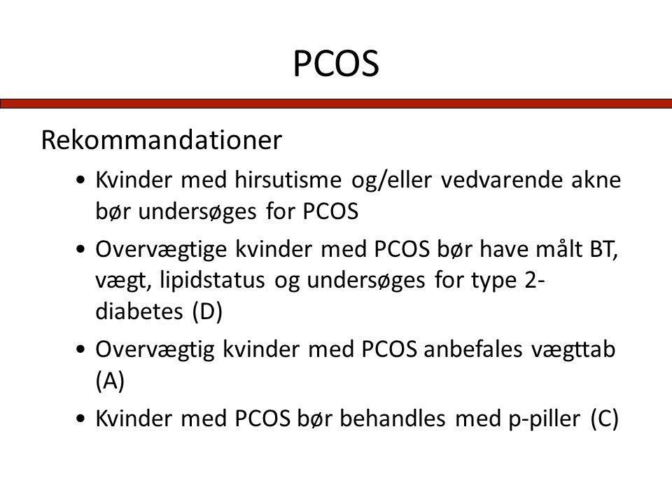 PCOS Rekommandationer