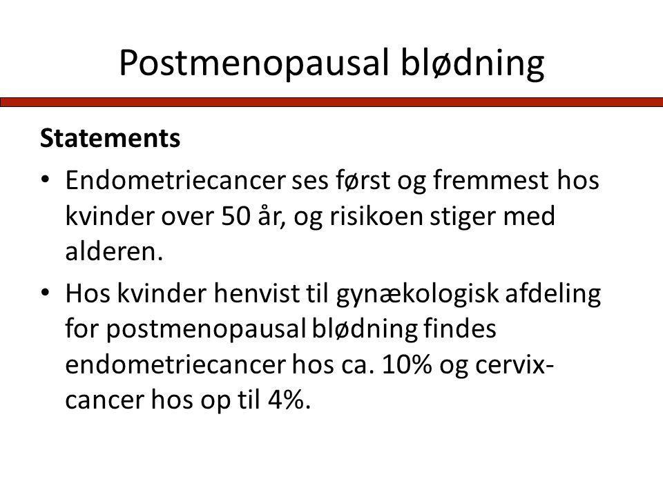 Postmenopausal blødning