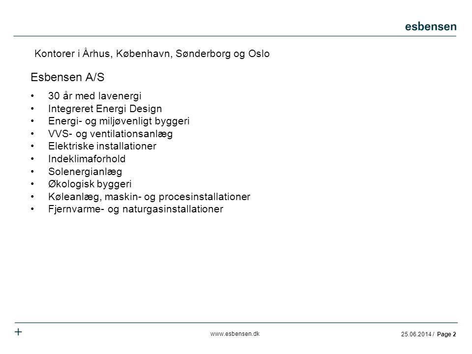 Esbensen A/S Kontorer i Århus, København, Sønderborg og Oslo